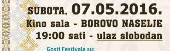 Večeras će u Borovu naselju biti održan 2. Festival etno muzike