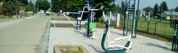 Fitnes park u centru Borova