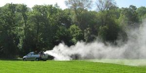 Zaprašivanje komaraca u Borovu, u nedelju, 27.maja
