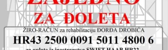 Humanitarna akcija za pomoć porodici Đorđa Drobića iz Borova