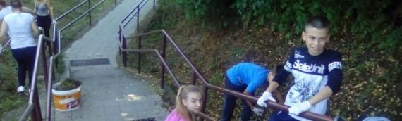 Školontiranje: Eko-porukama ukrašene stepenice do škole