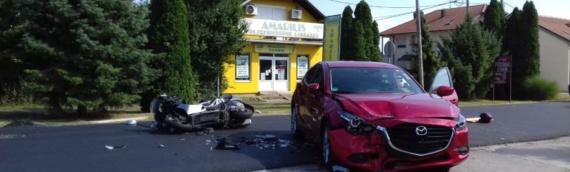 U saobraćajnoj nesreći u Borovu teže povređen vozač motocikla