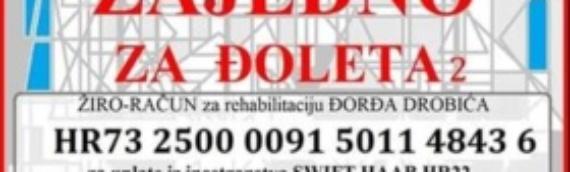 """VSNM Borovo nastavlja akciju """"Zajedno za Đoleta"""""""
