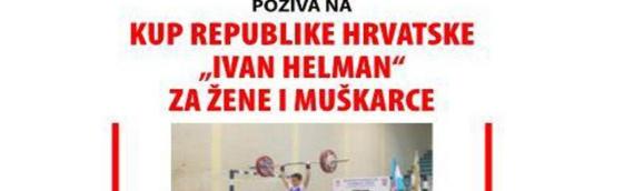 """Kup Republike Hrvatske u dizanju tegova """"Ivan Helman"""""""