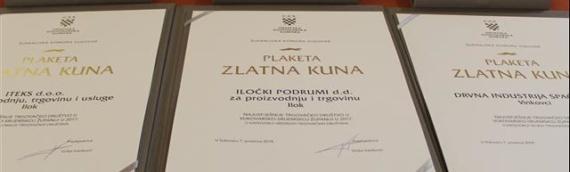 Dodeljene Zlatne kune firmama s područja Vukovarsko-sremske županije