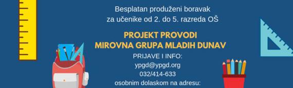 "Mirovna grupa mladih ""Dunav"": Produženim boravkom do boljeg uspeha vukovarskih osnovaca"