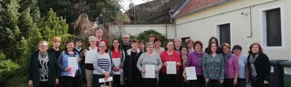 Zaželi i (p)ostani zaposlena žena:19 žena s područja opštine Erdut završilo edukaciju za negovateljicu