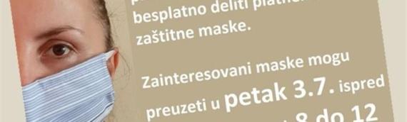 VSNM Borovo podeliće penzionerima besplatne platnene maske