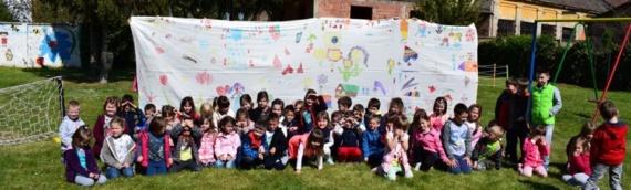 Mališani oslikali platno povodom 100 godina Lionsa