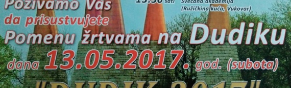 Sutra komemoracija na Dudiku