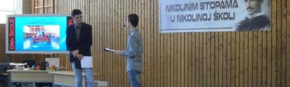 Dan Tehničke škole Nikole Tesle: Učenik generacije Jovan Vojnović iz Gaboša