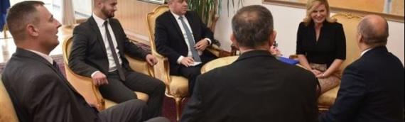 Predsednica Grabar-Kitarović primila delegaciju ZVO-a