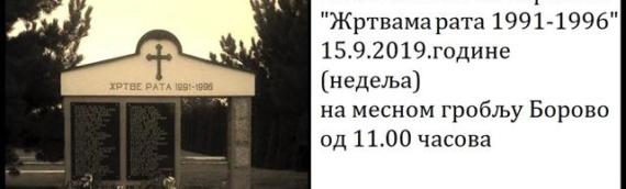 U nedelju parastos žrtvama rata u Borovu