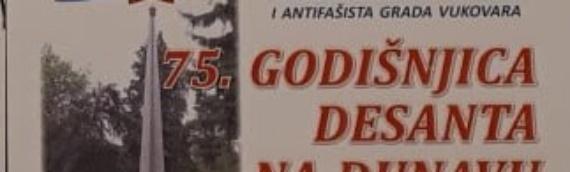 Obeležavanje 75.godišnjice Desanta na Dunav u Drugom svetskom ratu