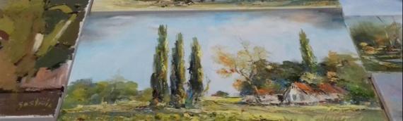 Izložba slika u Galeriji OŠ Borovo