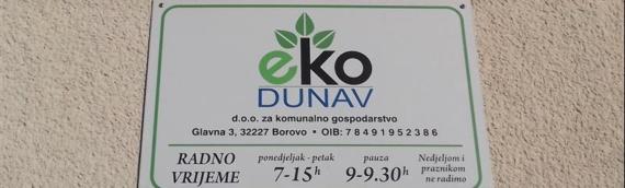 """Borovo: Od ponedeljka, 4. maja ponovo plaćanje računa u """"Eko Dunavu"""""""
