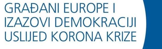 EDVU organizuje online diskusiju: Građani Evrope i izazovi demokratiji usled korona krize