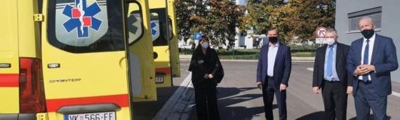 Zavodu za hitnu medicinu VSŽ uručena dva nova vozila