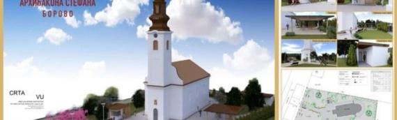Radovi na hramu Svetog Stefana u Borovu