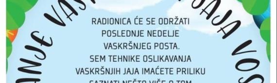 Borovo: Radionica šaranja vaskršnjih jaja