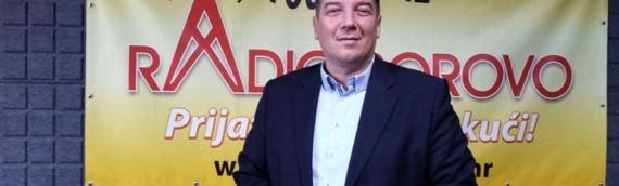 Gost u studiju Radio Borova u 12,10: Dragan Crnogorac, kandidat grupe birača za dožupana VSŽ