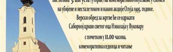 Izjava sećanja SNV-a povodom 26. godišnjice Oluje