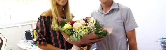 Borovo: Načelnik Zoran Baćanović primio atletičarku Melani Bosić i uručio joj novčanu nagradu