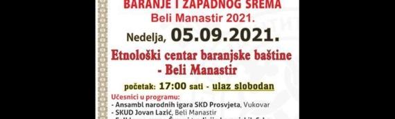 Peti sabor kulturnog i narodnog stvaralaštva Srba Slavonije, baranje izapadnog Srema