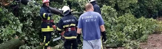 Borovski vatrogasci saniraju posledice olujnog nevremena u Borovu
