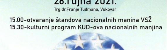 Dan nacionalnih manjina 26.septembra u centru Vukovara